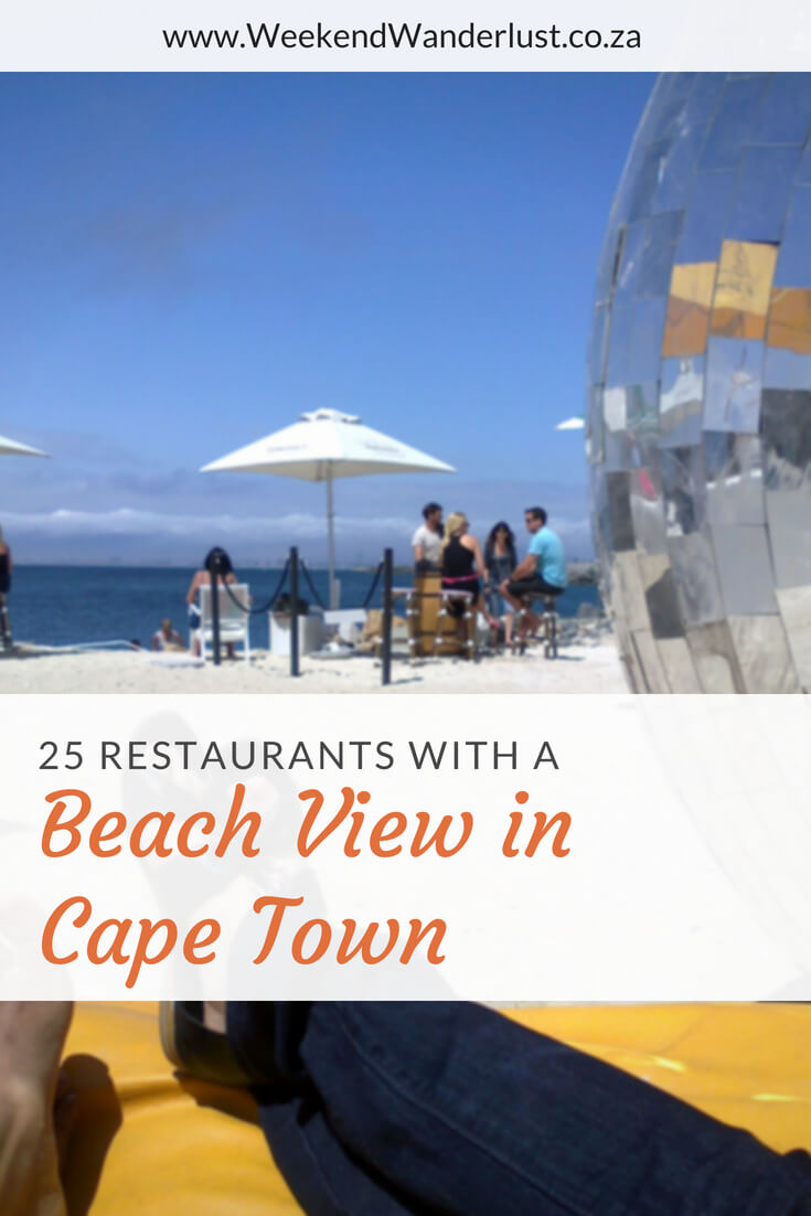 One of the best ways to enjoy the beach in Cape Town is sipping a cocktail while enjoying the sunsetting over the ocean. These are a few restaurants with the best view to do just that...