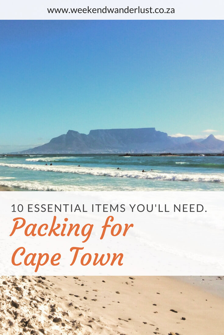 If you're planning a trip to Cape Town then you will definitely need to pack these 10 essentials...