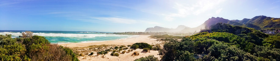 Kleinmond beach is a lovely stretch of sand and sea